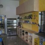 Küchenzeile für Kantine in Ahorn