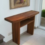 Tischchen in Cherry Vollholz mit Zwischenablage