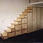 Treppenschrank in Multiplex Birke mit Schubkästen