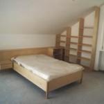 Besucherbett in Birke lackiert