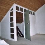 Dachgeschoß Türelement mit Glastür